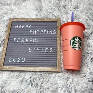 Starbucks Color Changing Peach Single Cup